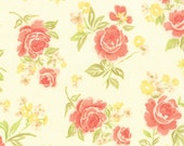 "31"" piece/remnant - Strawberry Fields Revisited - Summer Bouquet in Daisy: sku 20260-14 cotton quilting fabric by Fig Tree and Co. for Moda"