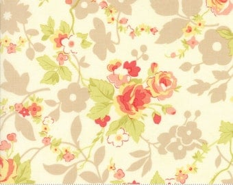 """33"""" piece/remnant - Chestnut Street - Chestnut Blooms in Milk: sku 20270-14 cotton quilting fabric by Fig Tree and Co. for Moda Fabrics"""