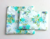 Reusable Snack and Sandwich Bags from Vintage Fabric