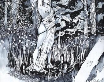 Forest Ritual - Magical / Fantasy Art Print