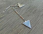 Boho Stained Glass Tribal Arrow Earrings