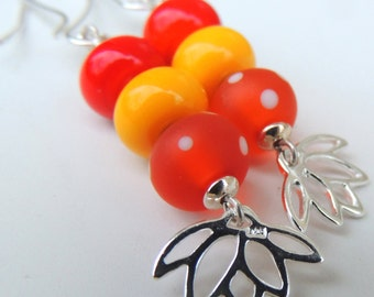 Easy Breezy Handmade Lampwork Bead Dangle Earrings