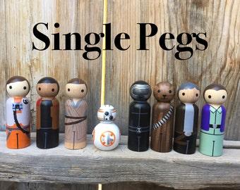 Star Wars Toys, Force Awakens Toys, BB8 Toy, PegBuddies, Rey toy, Star Wars birthday, Rey, Finn, BB8, Kylo Ren,