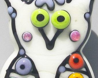 HOOTS-Handmade Lampwork Glass Bead