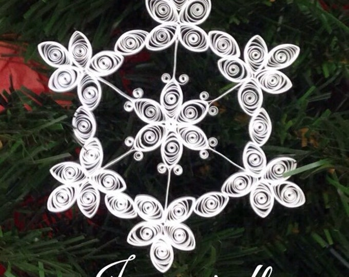 Quilled Snowflake Ornament/Suncatcher