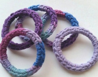Cat Toys Ferret Toys Toy Recycled Rings Purple Blue Pink