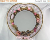 Half Off Sale Wall Mirror - Heart's Desire - Repurposed Jewelry - M200922