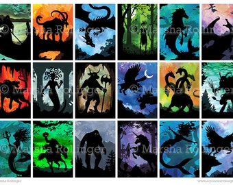 Silhouette Monsters & Mythology