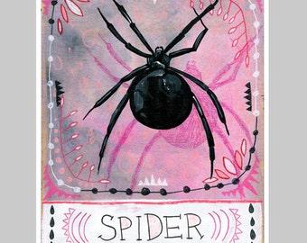 Animal Totem Print - Spider