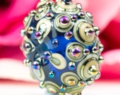 Byzantine Ornate Lustre Focal Bead - Handcrafted Lampwork Glass Bead