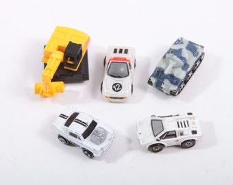Vintage Job Odd Lot of Micro Machines - Tank Cars excavator!