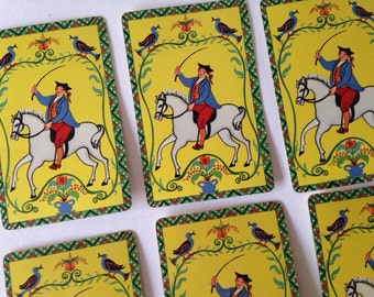 Scrap Booking Playing Cards Vintage 1970's English man on horse