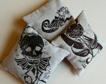 Lavender sachet - block print - one sachet
