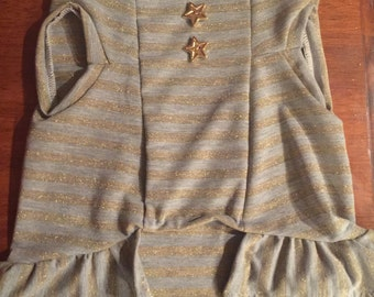 Sleeveless Knit Small Dog Shirt Dress  - size medium