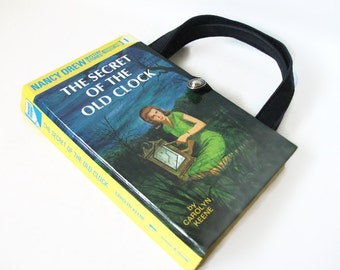 Nancy Drew Book Purse The Secret of the Old Clock Handbag Vintage Book Purse