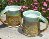 READY TO SHIP Pair of Espresso Cups Shot Glasses Sake Cups Kids Cup - Tahoe Sunset Glaze