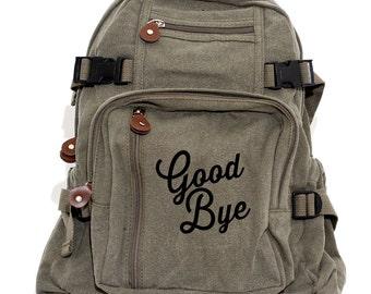 Backpack, Bye, Canvas Backpack, Hipster Backpack, Laptop Bag, Girls Backpack, College Backpack, Rucksack, Camera Bag, Back to School