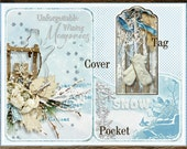 Winter Memories Board Book Kit with Tags Shabby Cottage Chic Scrapbook Journal Digital Printable INSTANT DOWNLOAD