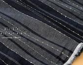 Japanese Fabric - yarn dyed yoroke knotted waves - F - 50cm