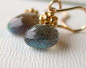 Valentine's Sale. Labradorite Earrings. Blue Flash Labradorite.