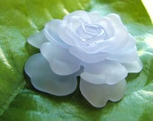 Lucite Rose in Light Blue Haze(1) b1841