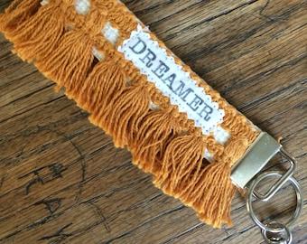 Dreamer Gold Hippie Chic Key Chain Wristlet