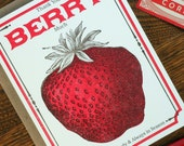 letterpress thank you berry much greeting cards pack of 6 farmers market vegan vegetarian vintage berry seed packet sweeter than candy