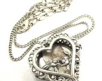 Bee  Heart Silver ...   Steampunk One of a Kind Bee  Victorian Heart