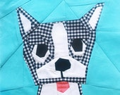 Duke Boston Terrier paper piecing pattern