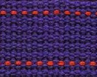 ECHINO Webbing #77 Violet Purple with Orange Stitching - 25MM WIDE Trim - Kokka Japanese Imported Etsuko Furuya