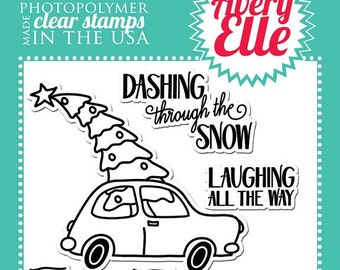 Avery Elle Clear Photopolymer Rubber Stamp Set - Dashing