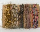 Metallic Yarn Scrap Yarns Weaving Felting Bling 1255