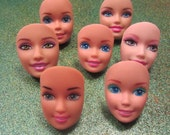 Green Eyed Barbie Doll face  - 1 adjustable ring f