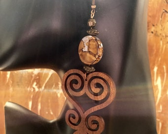 Afrocentric Jewelry, earring,adinkra,gifts