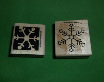 2 Snowflake Rubber Stamps Stampin Up