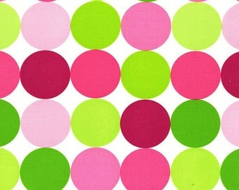 CLEARANCE 1.25 Yards Michael Miller Disco Dots in Sorbet