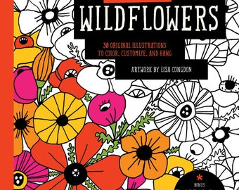 Lisa Congdon Wildflowers Coloring Book