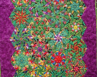 ON SALE Tropical Kaleidoscope Quilt
