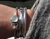 20% OFF Mothers Day Sale White Onyx bangle bracelet ... sterling silver close fitting bangle bracelet gemstone bracelet