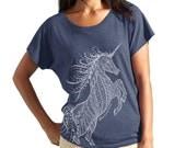 Unicone Tri-Blend Racerback Dolman T shirts
