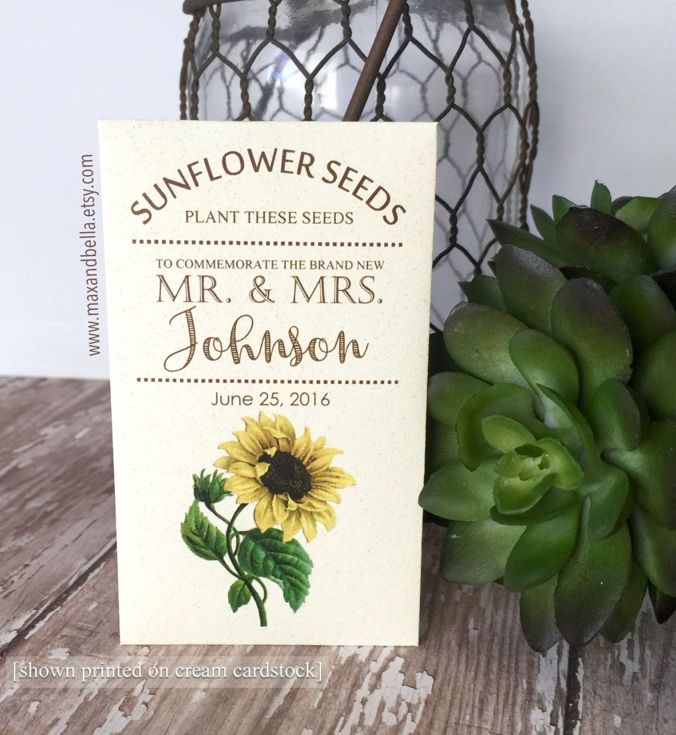 sunflower seed packets wedding favors - Wedding Decor Ideas