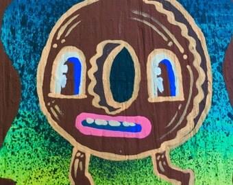 Chocolate Donut on the run
