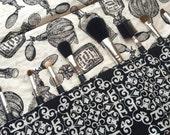 Makeup brush roll, makeup brush holder, Crochet hook organizer , paintbrush roll, perfume bottles