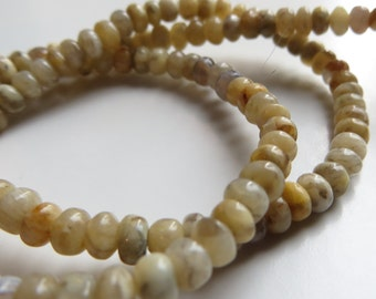 3mm Honey Jade Rondelle Beads - One Full Strand