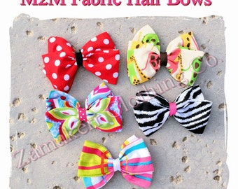 MADE TO MATCH Girl Fabric Hair Bow Clip