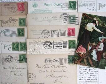 16 Vintage Postcards..Vacation..Travel..1906