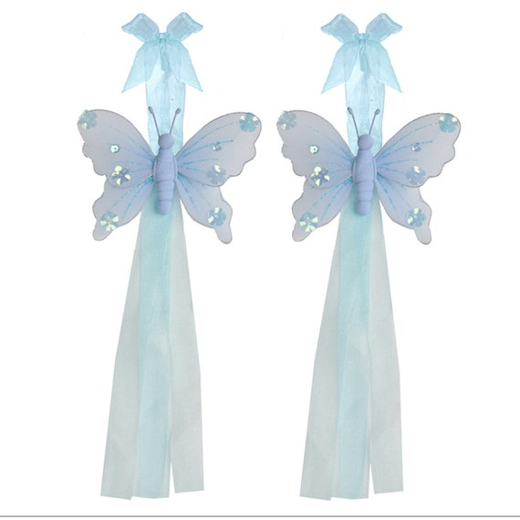 Butterfly Curtain Holdback Blue Nylon Butterflies By Bugsnblooms