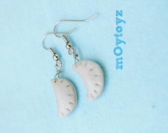 Steamed Dumpling Earrings - Handsculpted
