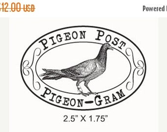 Clearance Pigeon Post Pigeon Gram Mail Art Rubber Stamp 268