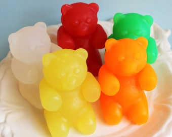 Gummy Bear Soap - Gummi Bear Soap, Candy Soap, Food Soap, Soap Favors, Animal Soap, Fruit Soap, Watermelon Soap, Bear Soap, Kids Soap, Bath